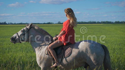 hot blonde riding