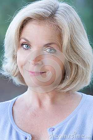 Beautiful Blonde Middle Aged Woman