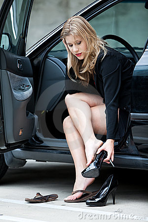 Beautiful blonde twenties businesswoman