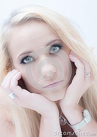 Beautiful Blonde Woman.