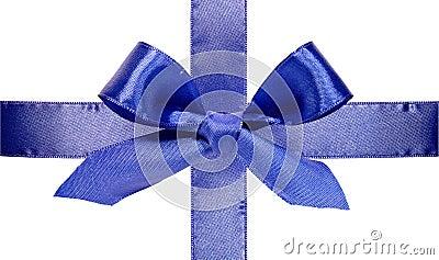 Beautiful blue bow