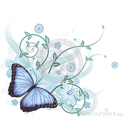 Free Beautiful Blue Butterfly Background Stock Photo - 18992730