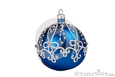 Beautiful blue Christmas ball