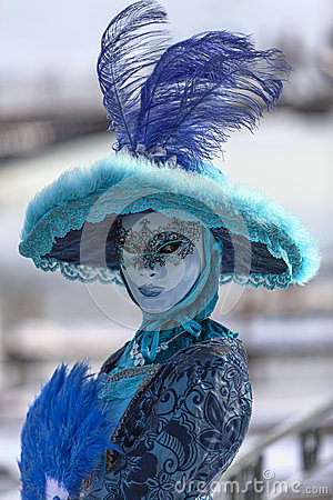 Beautiful Blue Disguise Editorial Photo