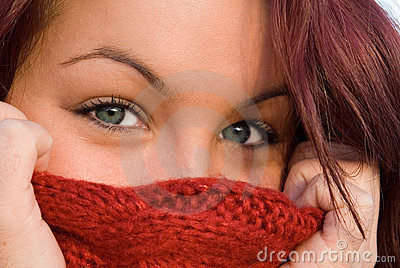 Beautiful blue eyes, woman