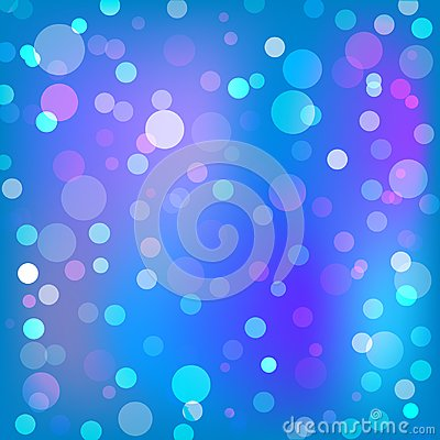Beautiful blue and purple bokeh background texture. Stock Photo