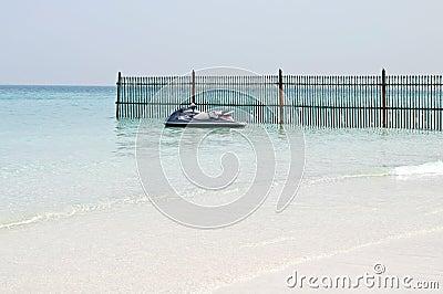 Beautiful blue sea on a sunny summer day