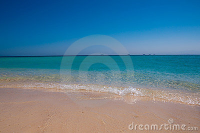 Beautiful blue shore of the Red Sea