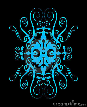 Beautiful blue spiral ornament