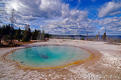 Beautiful Blue Yellowstone Hot Spring