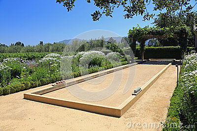 Beautiful Bocce Ball Court