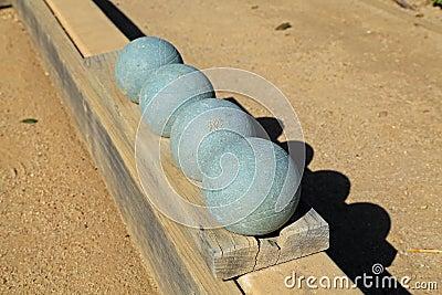 Beautiful bocce balls