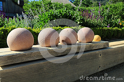 Beautiful bocce balls ready for play