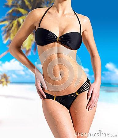 Free Beautiful Body Of Woman In Bikini At Beach Royalty Free Stock Photo - 28773835
