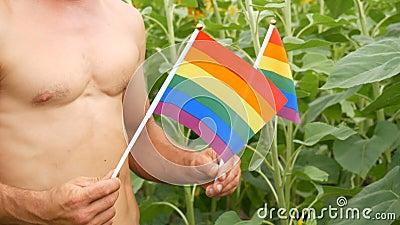 Rainbow Gay Men Holding Hands Dark Muscle Shirt