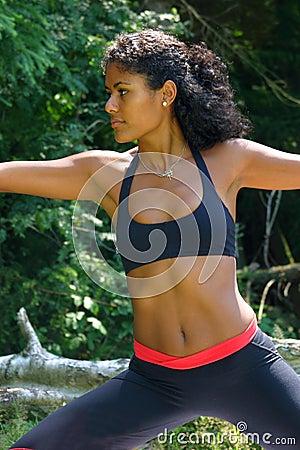 Beautiful Brazilian Woman In Yoga Pose Stock Images - Image: 167544