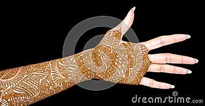 Beautiful bridal hand