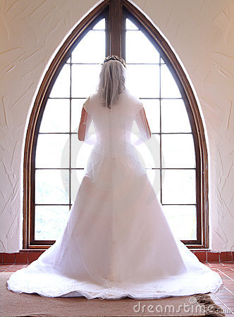 Free Beautiful Bride At Window Stock Images - 18069334
