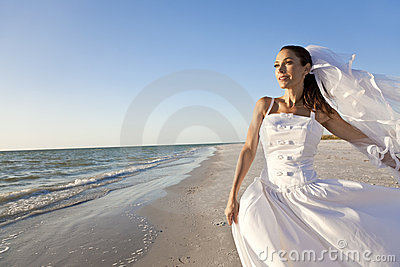 Beautiful Bride at Beach Wedding