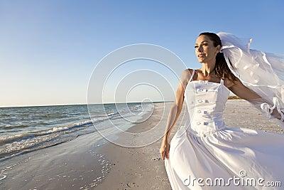 Beautiful Bride at Beach Wedding