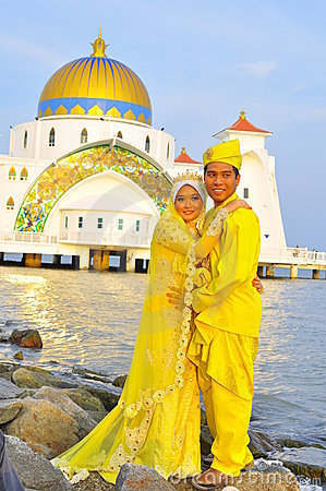 Beautiful bride and bridegroom Editorial Photo