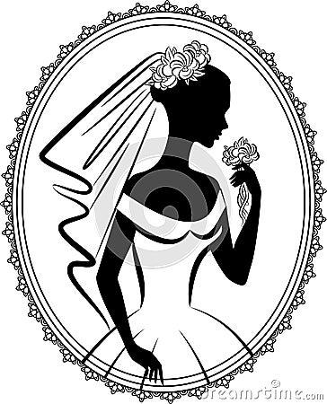 Beautiful bride in dress.