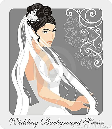 Beautiful Bride Illustration