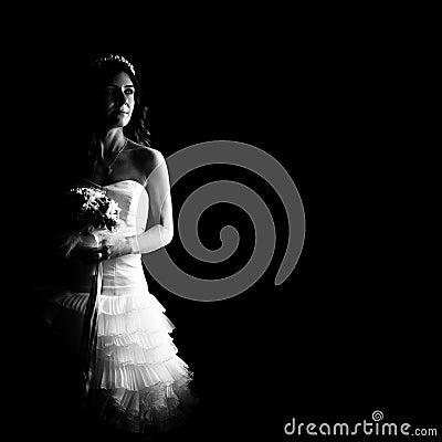 Free Beautiful Bride Indoor Stock Photo - 43955430