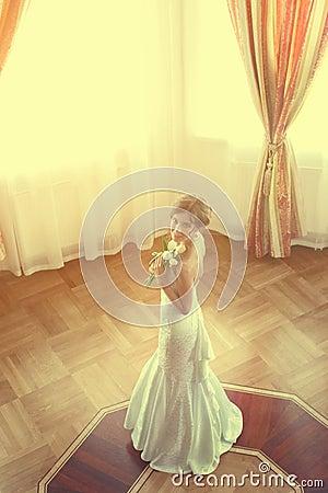 Beautiful bride indoors