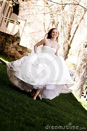 Beautiful Bride Running