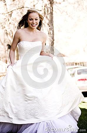 Beautiful Bride Running
