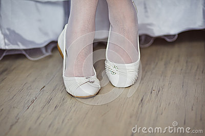 Beautiful bride s shoes