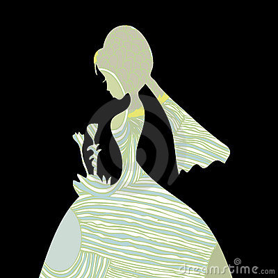 Beautiful Bride Silhouette Pattern