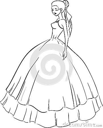 Beautiful Bride In Wedding Dress Stock Image Image 34184801