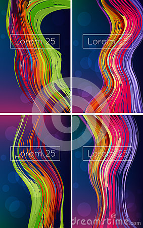 Beautiful bright abstract backgrounds