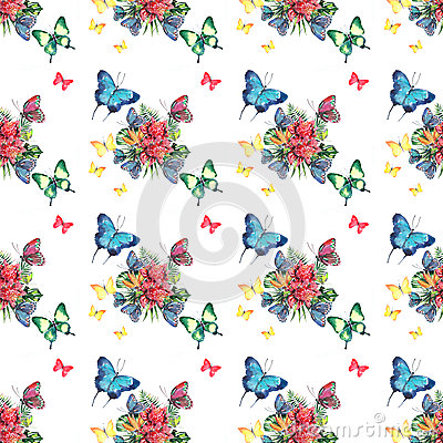 Free Beautiful Bright Lovely Colorful Tropical Hawaii Floral Herbal Summer Pattern Of Tropical Flowers And Red Pink Green Yellow Blue P Royalty Free Stock Photo - 93092395