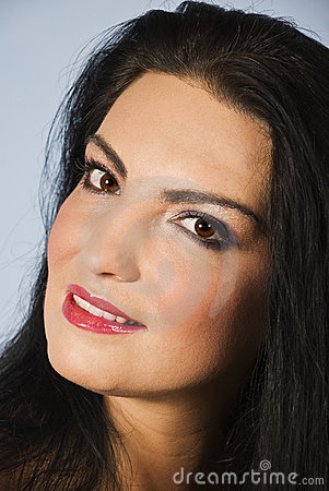 Beautiful brown eyes lady