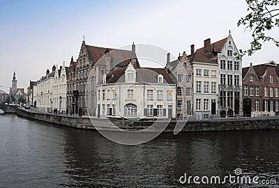 Beautiful Brugge panoramic view