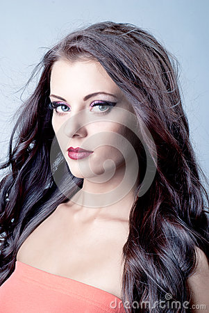 Beautiful brunette female portrait