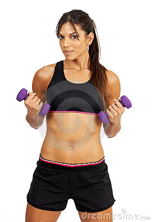 Free Beautiful Brunette Woman Exercising Stock Photos - 5434603