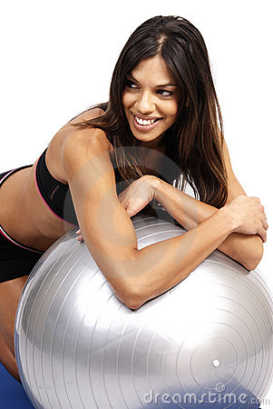 Free Beautiful Brunette Woman Exercising Stock Photo - 5654970