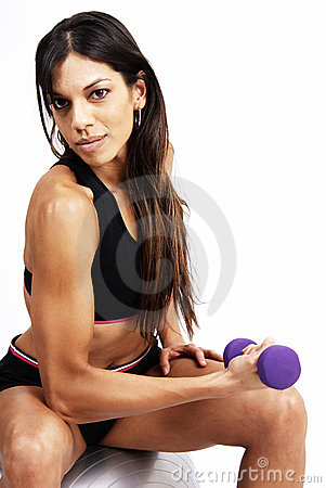 Free Beautiful Brunette Woman Exercising Stock Photos - 5655043