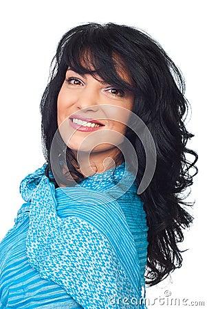 Beautiful brunette  woman hairstyle