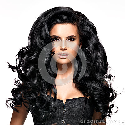 Free Beautiful Brunette Woman With Long Black Hair Royalty Free Stock Photos - 38900228