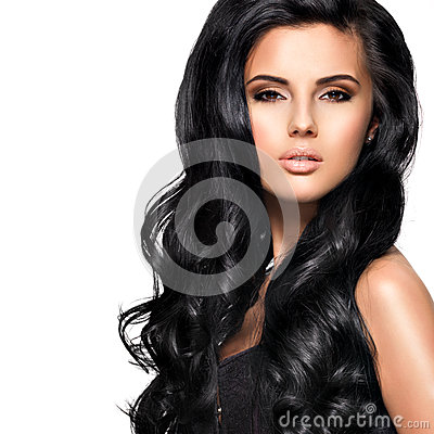 Free Beautiful Brunette Woman With Long Black  Hair Royalty Free Stock Photo - 38900245