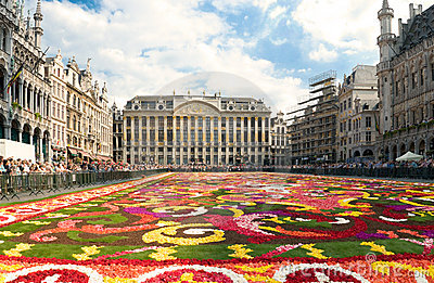 Beautiful Brussels flower carpet Editorial Photography