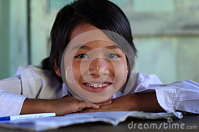Beautiful Burmese girl Editorial Stock Photo