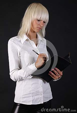 Beautiful business blonde lady