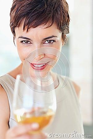 Beautiful business woman celebrating