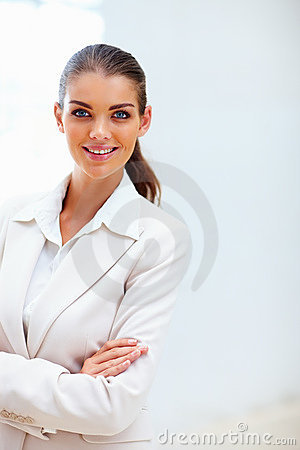 Beautiful business woman lovely smile